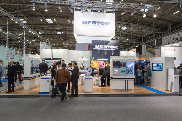 Mentor's stand at Electronica 2014, Munich.